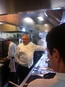 Scabin al lavoro nelle cucine di Pollenzo